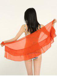 Simple Solid Color Double Layers Shawl Scarf -