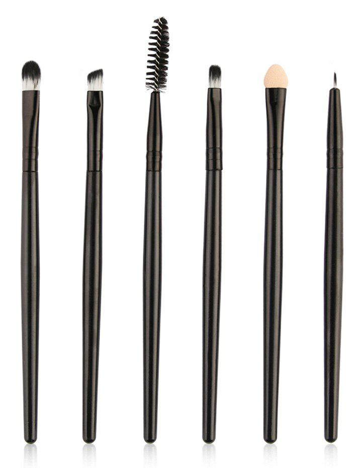Outfits Set of 6Pcs Ultra Soft Fibre Hair Eye Makeup Brushes