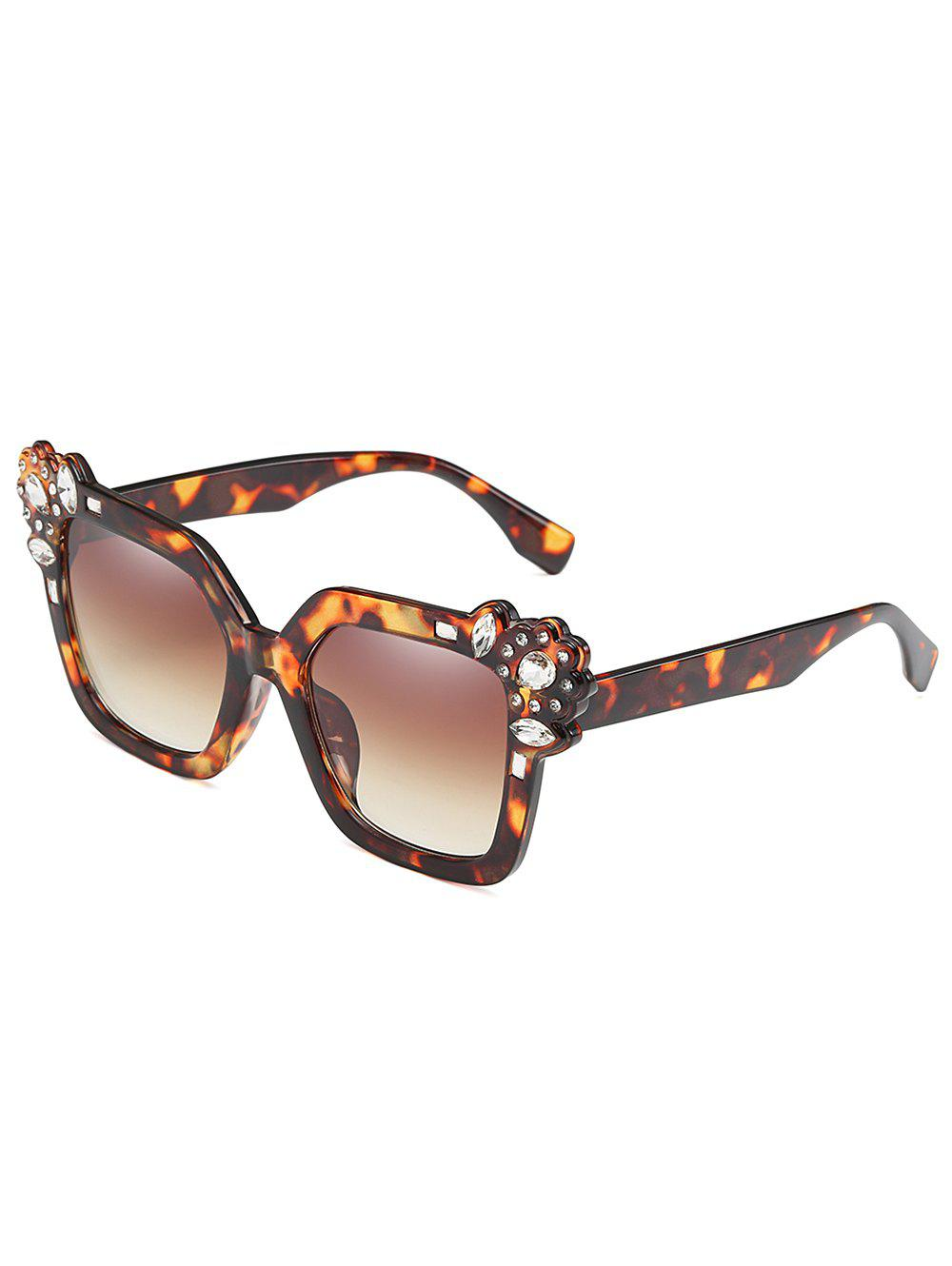 Latest Anti Fatigue Rhinestone Inlaid Oversized Sunglasses