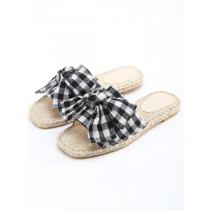 Espadrille Color Block Slide Sandales -