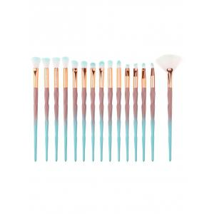 Portable Ombre Hair Beauty Tool 15 Pcs Makeup Brushes Set -