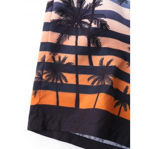 Coconut Tree Printed Beach Bermuda Shorts -