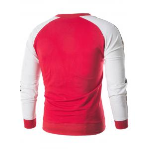 Sweat-Shirt avec Empiècements Blocs de Couleurs -