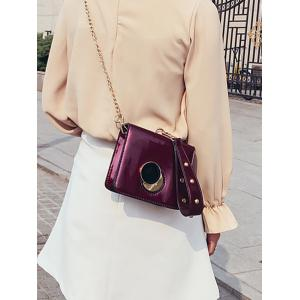 Minimalist Grommet Chain Clutch Bag -