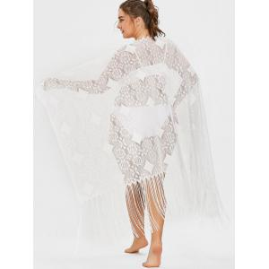 Plus Size Fringed Lace Cover Up -