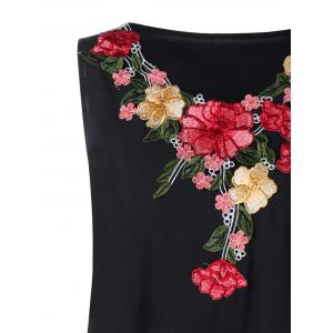 Plus Size Embroidery Tank Top -