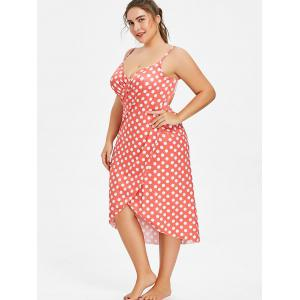 Plus Size Polka Dot Convertible Cover Up Dress -