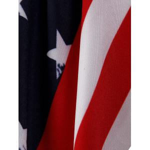 Patriotic American Flag Flare Dress -