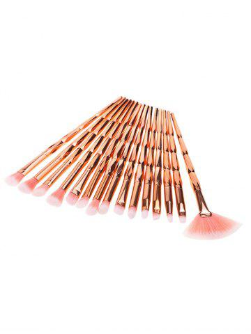 Latest Portable Ombre Hair Beauty Tool 15 Pcs Makeup Brushes Set