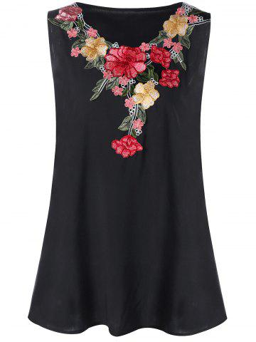 Trendy Plus Size Embroidery Tank Top