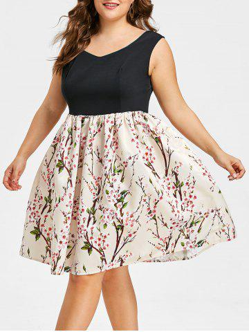 Fashion Plus Size Sweetheart Floral Print Dress