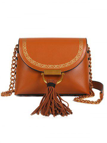 Discount Tassel Hasp Closure Lace Up Design Decor Shoulder Bag
