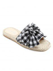 Espadrille Color Block Slide Sandals -