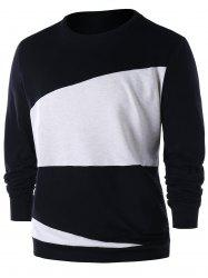 Sweatshirt à blocs de couleur -