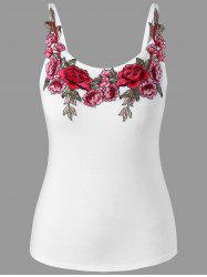 Plus Size Embroidery Cami Top -