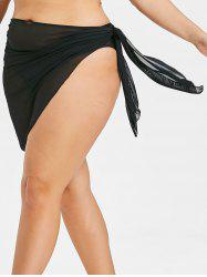 Plus Size Sheer Wrap Cover Up -