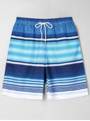 Stripe Beach Bermuda Shorts -