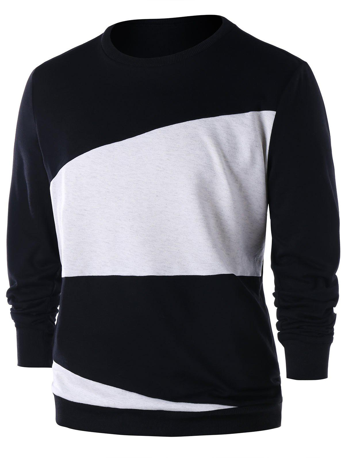 Fashion Color Block Sweatshirt
