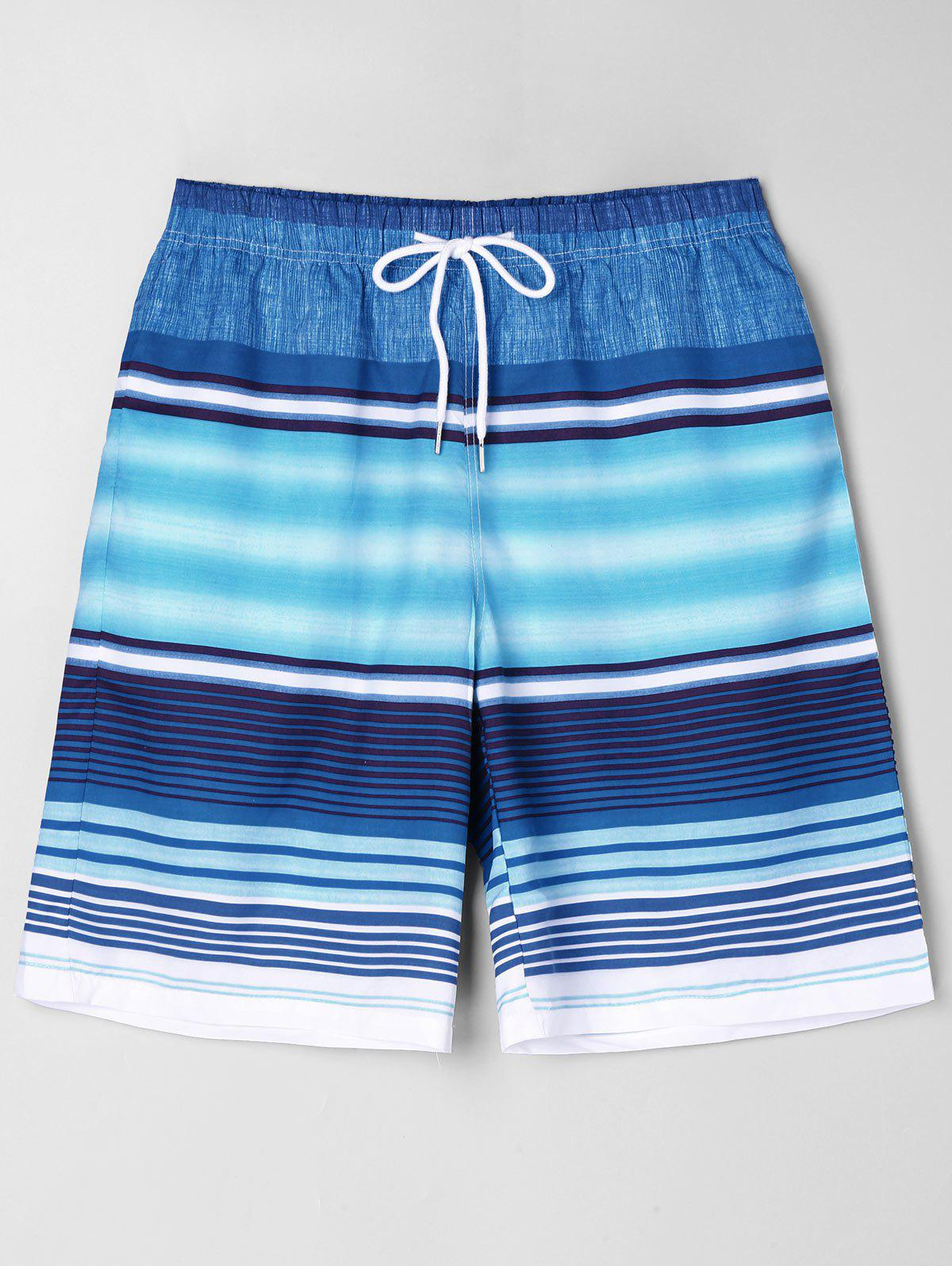 Chic Stripe Beach Bermuda Shorts