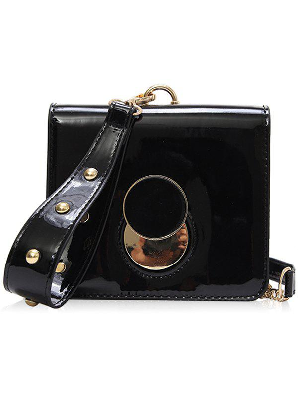 Fancy Minimalist Grommet Chain Clutch Bag