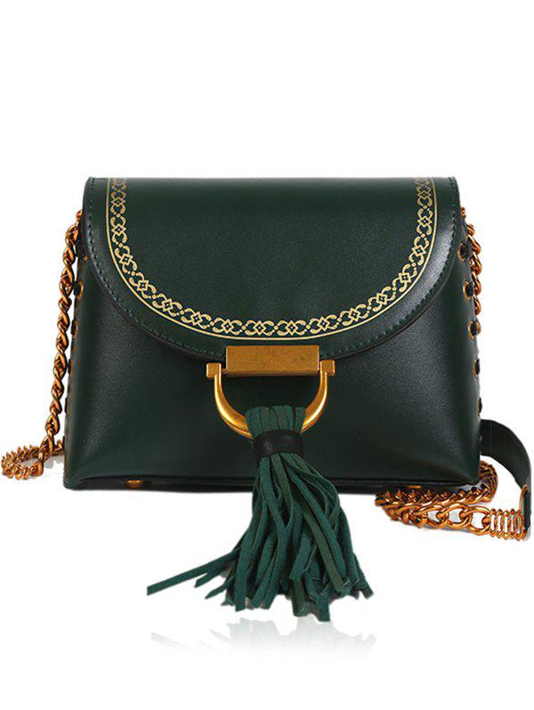 Cheap Tassel Hasp Closure Lace Up Design Decor Shoulder Bag