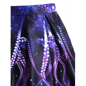 Octopus Claw Print A-line Skirt -