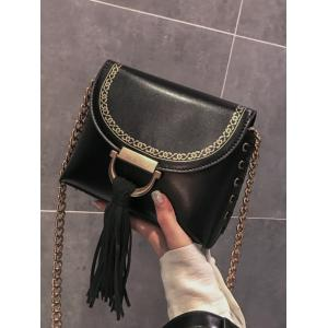Gland Hasp Fermeture Lace Up Design Decor Sac à bandoulière -