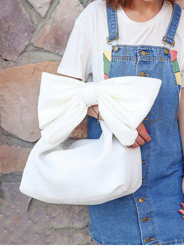 Shop Lovely Bowknot Space Cotton Beach Hand Bag