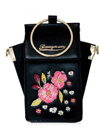 Best Floral PU leather Crossbody Bag with Ring