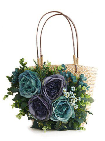 Best Straw Chic Floral Handbag for Beach