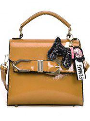 Pendant Decoration Buckle Strap Covered Crossbody Bag -