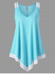 Plus Size  V Neck Trapeze Tank Top -
