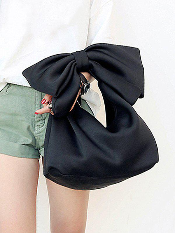 Online Lovely Bowknot Space Cotton Beach Hand Bag
