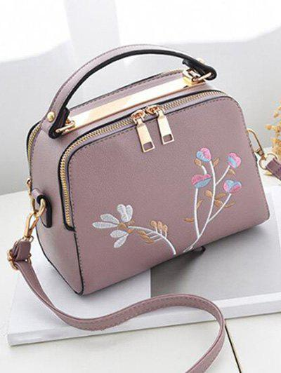 Hot Floral Embroidery Chic Crossbody Bag with Handle