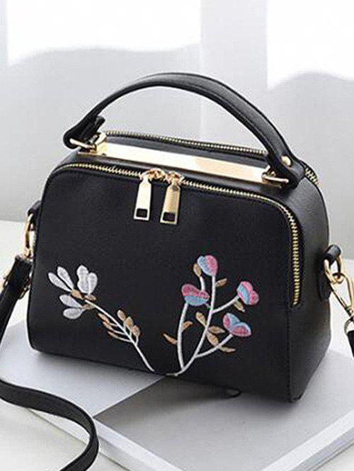 Sale Floral Embroidery Chic Crossbody Bag with Handle