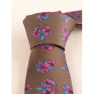 Ensemble Mouchoir et Cravate Motif Fleurs Style Business -