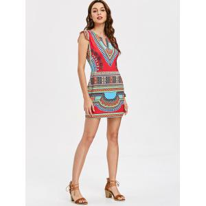 Cap Sleeve Dashiki Short Dress -
