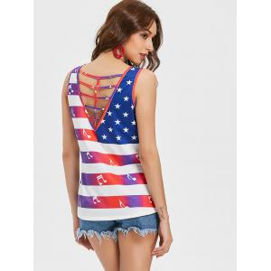 Débardeur Ombre Caged American Flag -