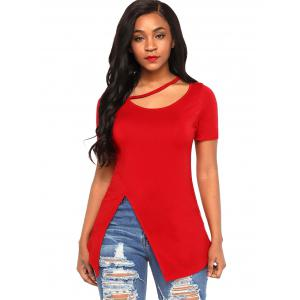 Soft Cutout Slit Tee -