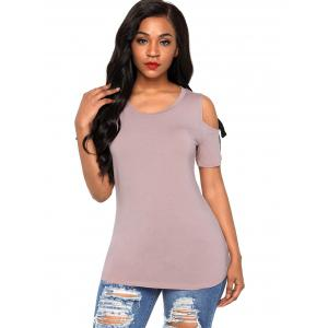 Soft Knot Cutout T-shirt -