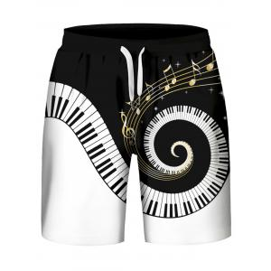 Spirale Piano Key Pattern Hoodies Débardeur et Shorts -