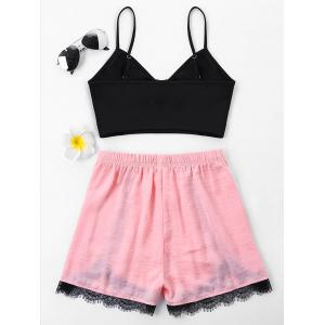 Lace Insert Two Piece Outfits -