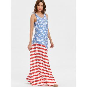 American Flag Sleeveless Maxi Dress -