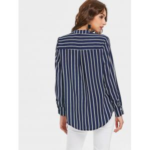 Vertical Stripe High Low Tunic Top -