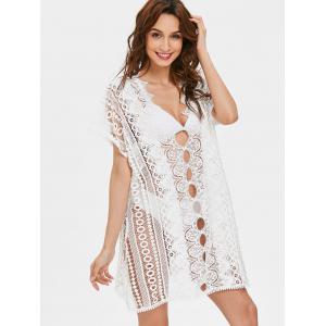 Cut Out Lace Tunic Cover Up Top -