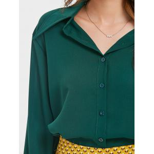 Balloon Sleeve Chiffon Blouse -