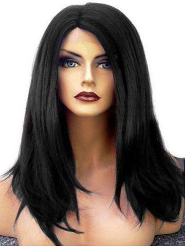 Discount Medium Side Parting Straight Lace Front Synthetic Wig