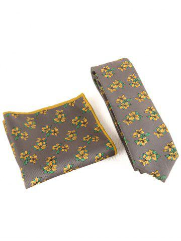 Shops Blooming Flowers Business Shirt Tie and Handkerchief Set