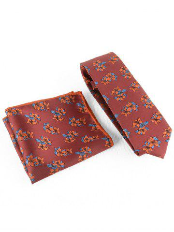 Outfit Blooming Flowers Business Shirt Tie and Handkerchief Set