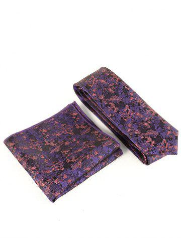 Outfits Camo Floral Silky Shirt Tie and Handkerchief Set